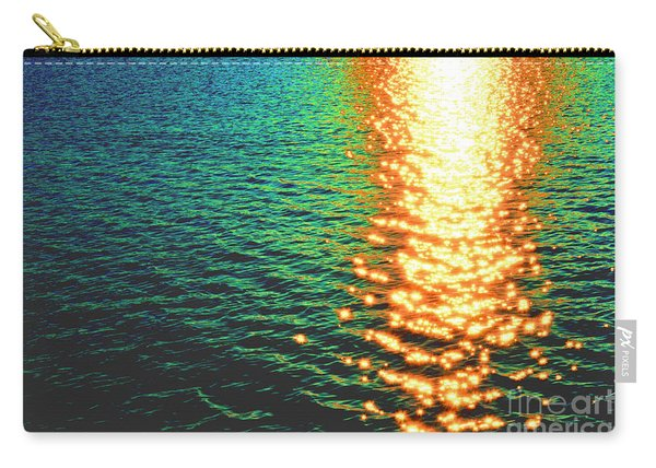 Abstract Reflections Digital Painting #5 - Delaware River Series Carry-all Pouch