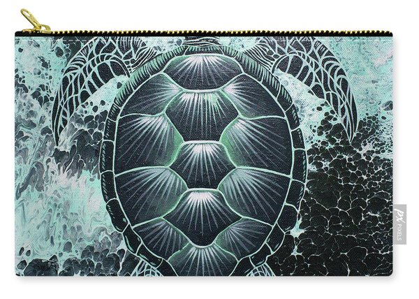 Abstract Sea Turtle Carry-all Pouch