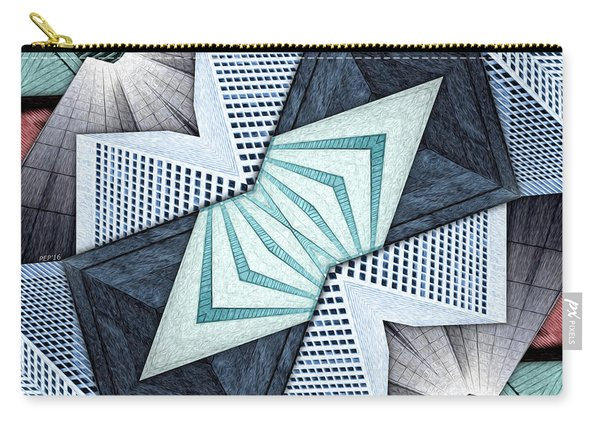 Abstract Structural Collage Carry-all Pouch