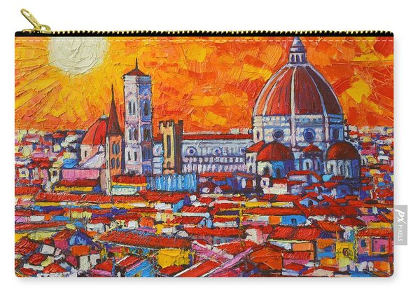 Abstract Sunset Over Duomo In Florence Italy Carry-all Pouch