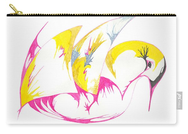 Abstract Swan Carry-all Pouch