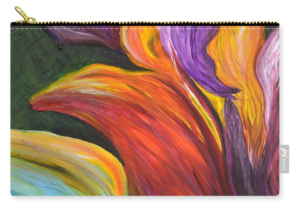 Abstract Vibrant Flowers Carry-all Pouch