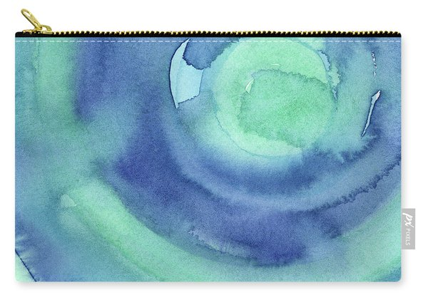 Abstract Watercolor Aqua Blues Carry-all Pouch