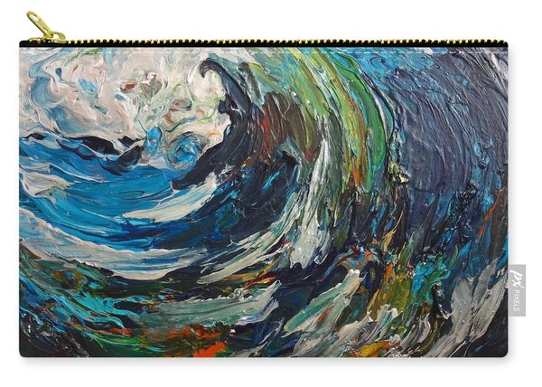 Abstract Wild Wave  Carry-all Pouch