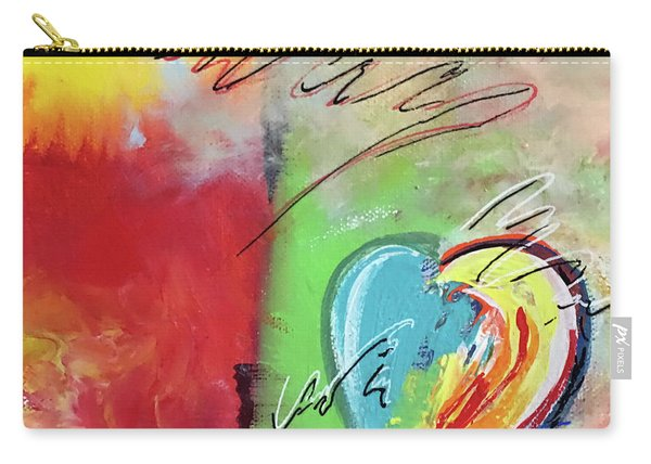 Abstract With Heart Carry-all Pouch
