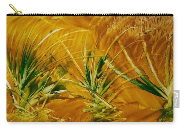 Abstract Yellow, Green Fields   Carry-all Pouch