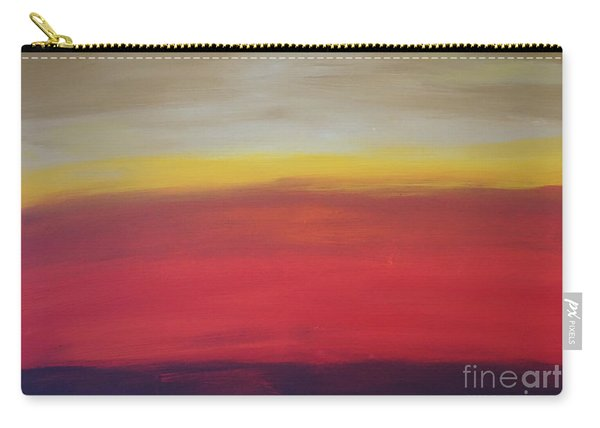 Carry-all Pouch featuring the painting Abstract_sunset by Jimmy Clark