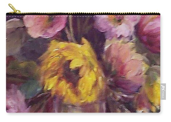 Abundance- Floral Painting Carry-all Pouch