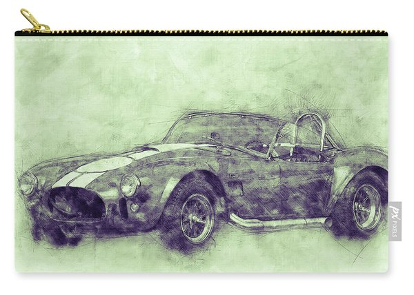 Ac Cobra - Shelby Cobra 3 - 1962s - Automotive Art - Car Posters Carry-all Pouch