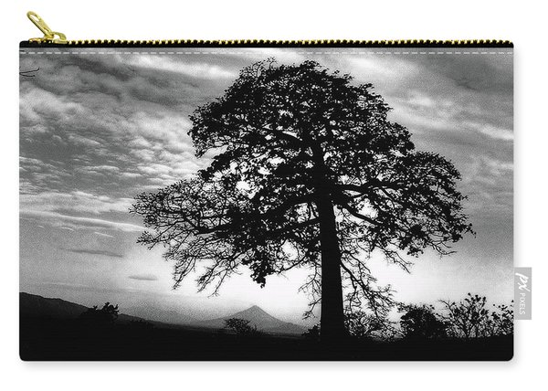Acacia And Volcano Silhouetted Carry-all Pouch