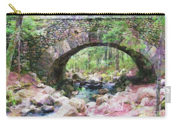 Acadia National Park - Cobblestone Bridge Abstract Carry-all Pouch