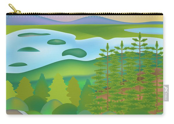 Acadia National Park Vertical Scene Carry-all Pouch