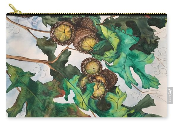 Acorns On An Oak  Carry-all Pouch