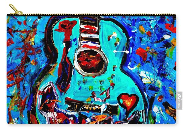 Acoustic Love Guitar Carry-all Pouch