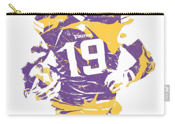 Adam Thielen Minnesota Vikings Pixel Art 2 Carry-all Pouch
