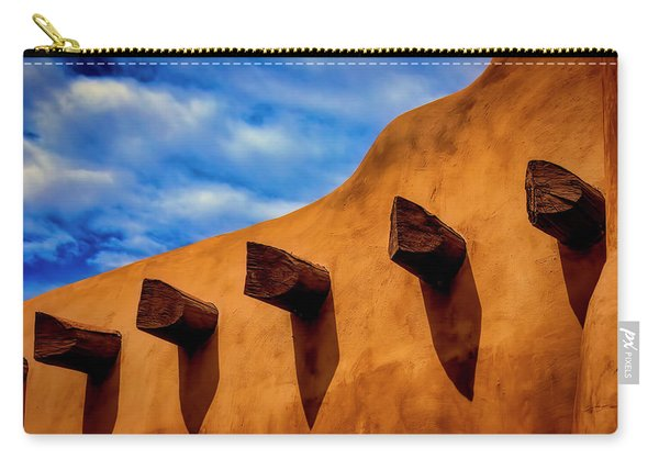 Adobe Wall With Beams Carry-all Pouch