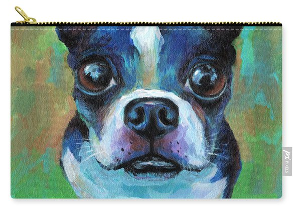 Adorable Boston Terrier Dog Carry-all Pouch