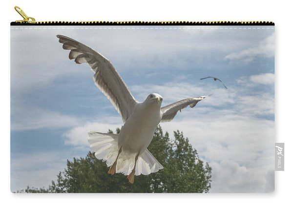 Adult Seagull In Flight Carry-all Pouch