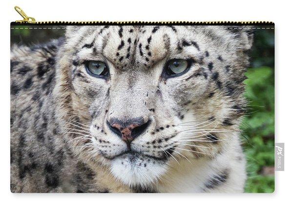 Adult Snow Leopard Portrait Carry-all Pouch