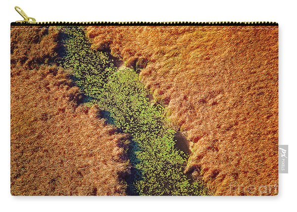 Aerial Farm Stream Lillies  Carry-all Pouch