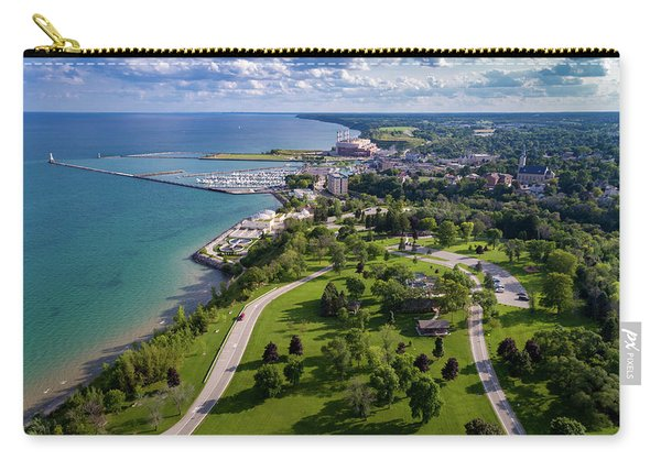 Aerial Of Port Washington Carry-all Pouch