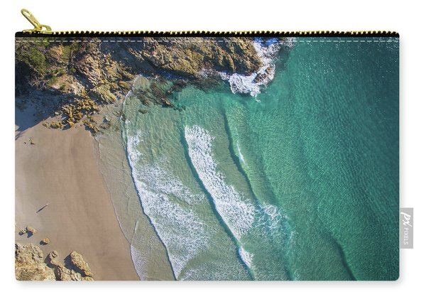 Aerial Shot Of Honeymoon Bay On Moreton Island Carry-all Pouch