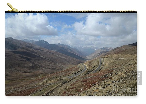 Aerial Shot Of Mountainous Karakoram Highway Babusar Pass Pakistan Carry-all Pouch