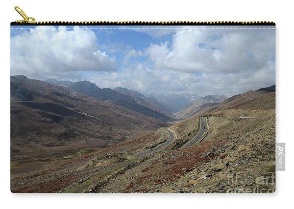 Aerial Shot Of Mountainous Karakoram Highway Babusar Pass Pakistan Carry-all Pouch