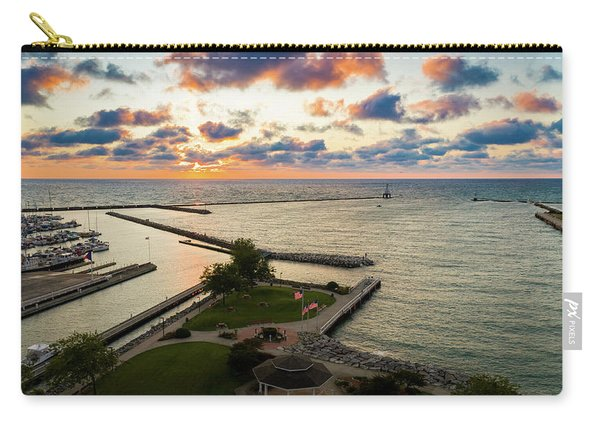 Aerial Sunrise Sep 9 2017 Carry-all Pouch