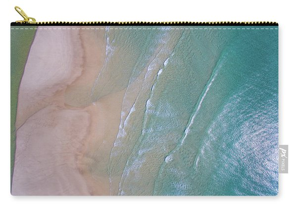 Aerial View Of Beach And Wave Patterns Carry-all Pouch