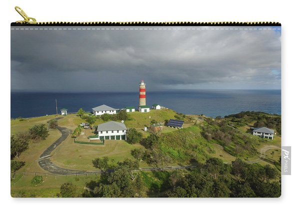 Aerial View Of Cape Moreton Lighthouse Precinct Carry-all Pouch
