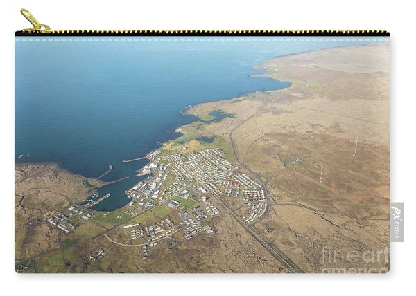 Aerial View Of Iceland South Coast  Carry-all Pouch