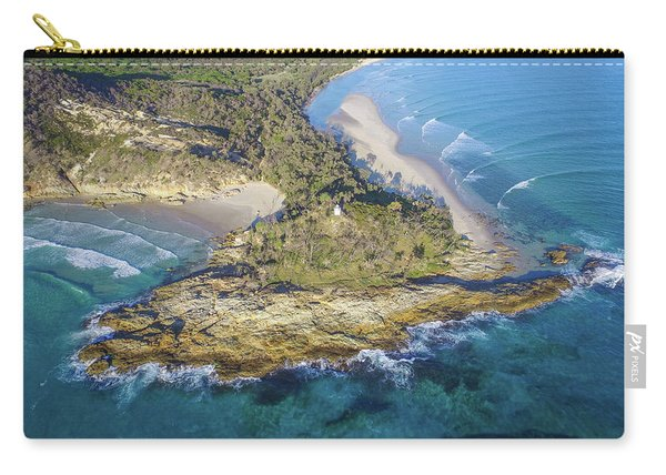 Aerial View Of North Point, Moreton Island Carry-all Pouch