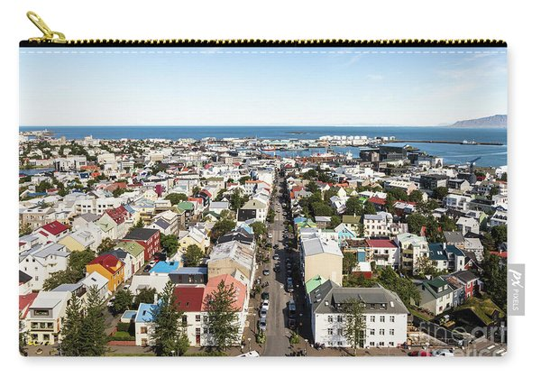 Aerial View Of Reykjavik In Iceland Carry-all Pouch