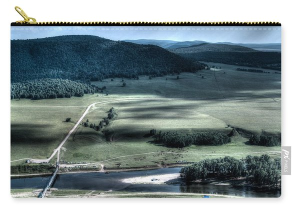 Aerial View Of Rolling Russian Hills Carry-all Pouch
