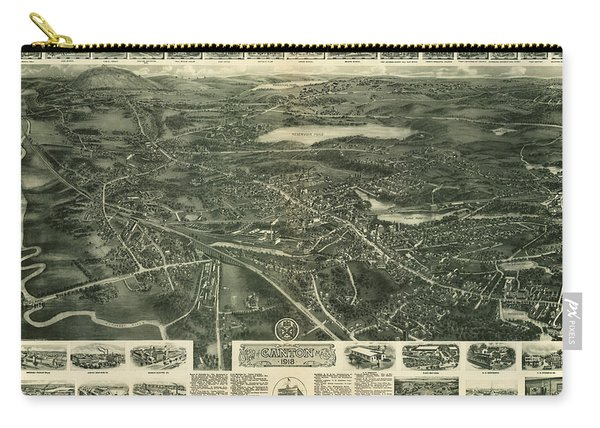 Aero View Of Canton, Mass Carry-all Pouch