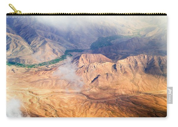Afghan Valley At Sunrise Carry-all Pouch