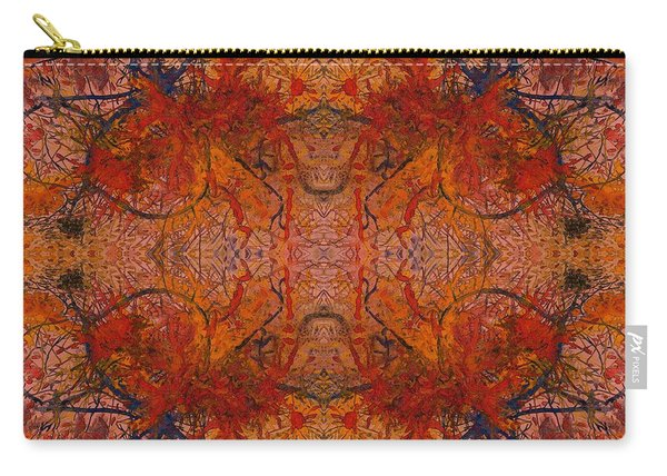 Aflame With Flower Quad Hotwaxed Version Of Acrylic/watercolour Carry-all Pouch