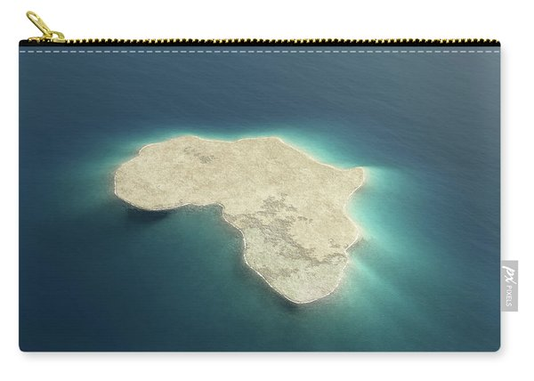 Africa Conceptual Island Design Carry-all Pouch