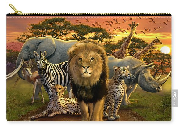 African Beasts Carry-all Pouch