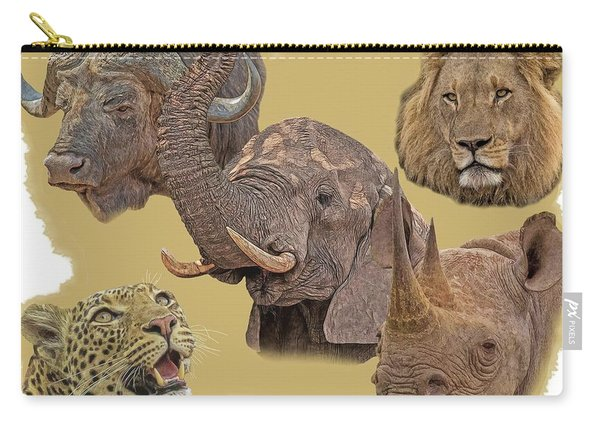 African Big Five Carry-all Pouch