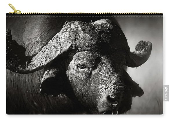African Buffalo Bull Close-up Carry-all Pouch