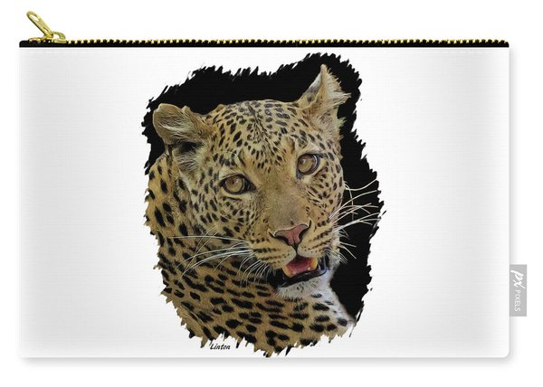 African Leopard Portrait Carry-all Pouch