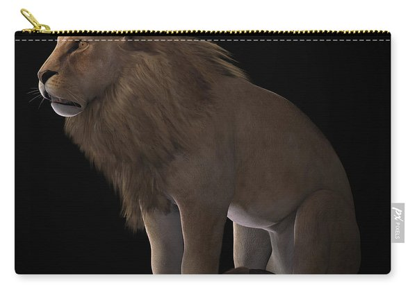 African Lion On Black Carry-all Pouch