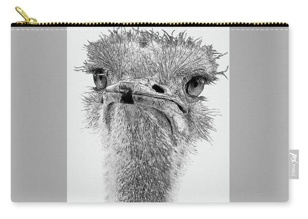 African Ostrich Sketch Carry-all Pouch