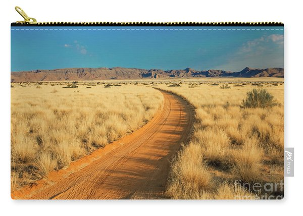 Carry-all Pouch featuring the photograph African Sand Road by Benny Marty