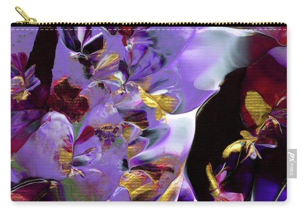 African Violet Awake #2 Carry-all Pouch