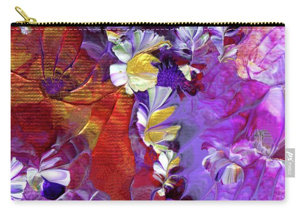 African Violet Awake #5 Carry-all Pouch