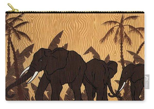 Afrique Occidentale - Air France - Afrique Equatoriale - Retro Travel Poster - Vintage Poster Carry-all Pouch