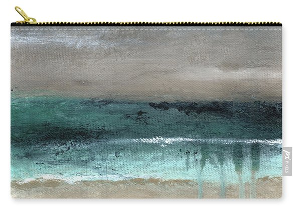 After The Storm 2- Abstract Beach Landscape By Linda Woods Carry-all Pouch